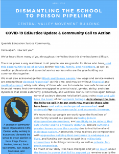 COVID-19 EdJustice Update & Community Call to Action- ENGLISH FINAL